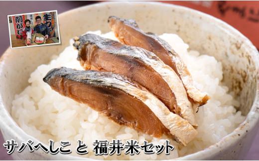 [A-4313] 伝統の味 福井の恵み サバへしこと福井米のセット