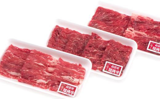 【お届け月を選べる!】山形村短角牛精肉3点セット
