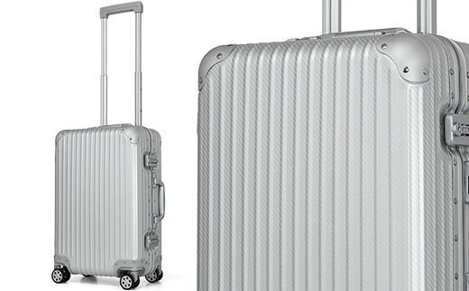 【先行予約】[PROEVO] アルミスーツケース フレームキャリー 機内持ち込み対応サイズ S(カーボン/シルバー)・02-BC-3606