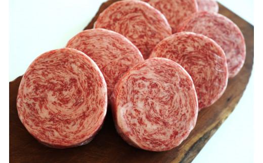 【B-53】牧場直送 牛肉100%ふんわりロールステーキ 8個