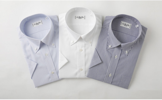 半袖 ボタンダウン 3枚 セット HITOYOSHI シャツ Lサイズ