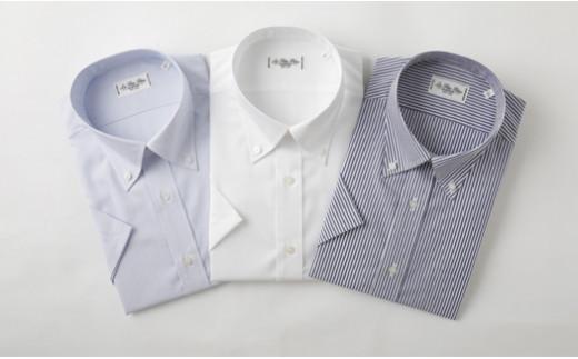 半袖 ボタンダウン 3枚 セット HITOYOSHI シャツ Mサイズ