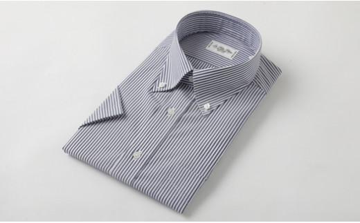 半袖 ボタンダウン ストライプ HITOYOSHI シャツ Mサイズ