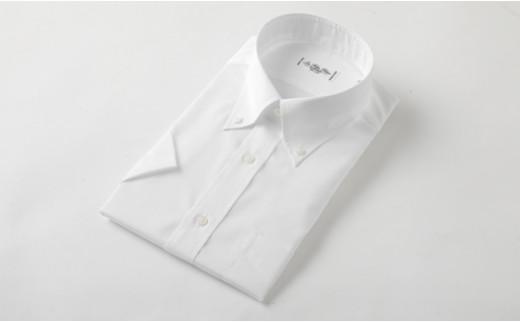 半袖 ボタンダウン 白 HITOYOSHI シャツ