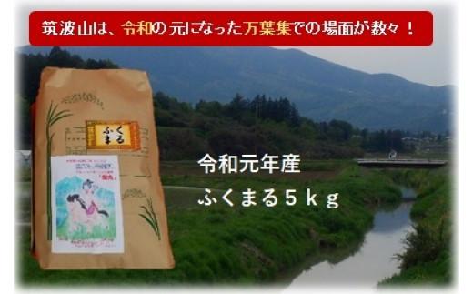 (B606) つくば山麓厳選ふくまる白米5kg【令和元年産】