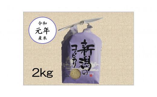 H01-02【令和元年産】新潟県弥彦村コシヒカリ 2kg(2kg×1袋)