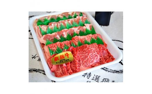 やまちゃん飛騨牛焼肉セット 計約1kg(オリジナルタレ付き)【1048112】