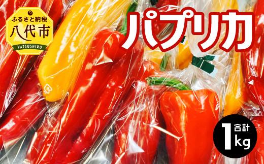 八代市産 宮島農園 パプリカ 1kg(ガブリエル)各3~4袋 赤色 黄色