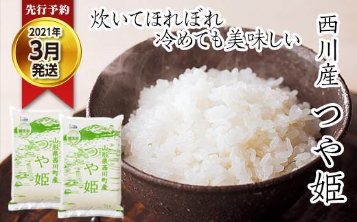 FYN9-073【先行予約】令和2年度産 西川産 無洗米 つや姫10kg【2021年3月発送】