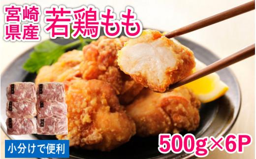 <500g×小分け6パック>若鶏もも肉3kg【B356】