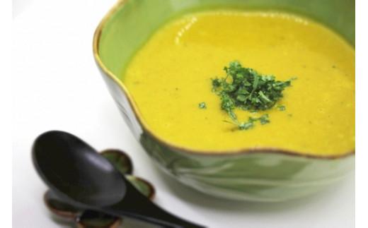 2回目 免疫力を高めるビタミンCを含むカボチャスープにきのこを加えてアレンジしてみては