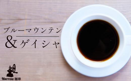 【定期便】自家焙煎 ブルーマウンテンNo.1&ゲイシャ 6カ月