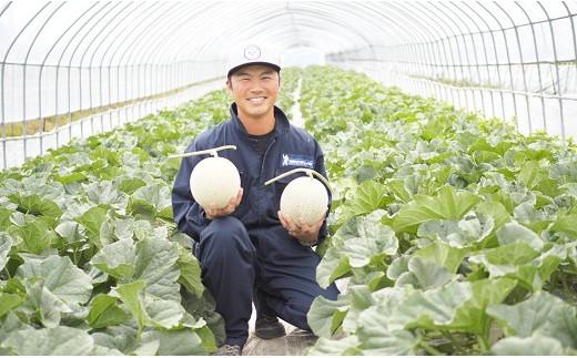 【鈴和産】遠藤ファームの中富良野メロン 大玉2玉