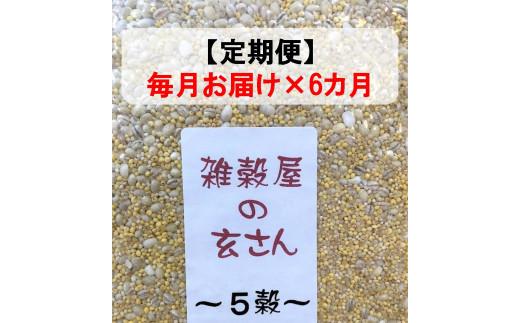 定期便 毎月お届け6ヵ月 雑穀屋の玄さん オリジナル 雑穀ブレンド(5穀ブレンド)300g