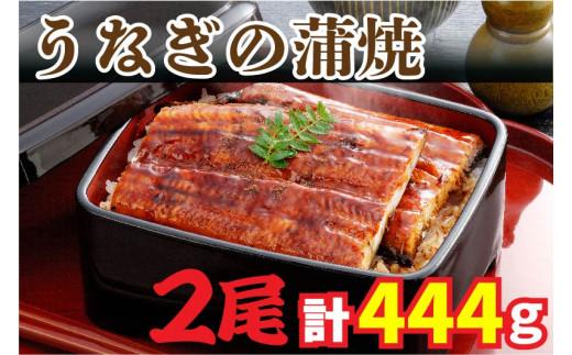 AU-037 【当店オリジナル味付け】鹿児島県産・鰻の蒲焼2尾(約222g×2尾)