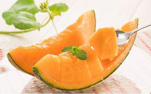 [№5742-0852]北海道産 有機栽培『赤肉 街道メロン』約1.5kg×2玉