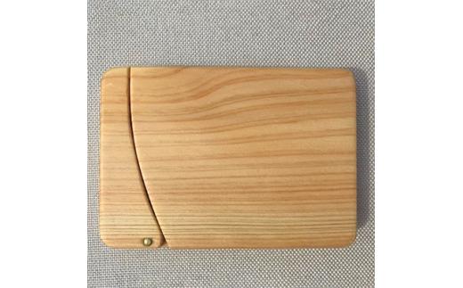 無垢材カードケース<ヒノキ>【1098819】