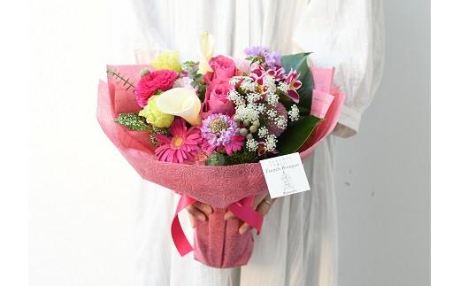 【生花花束】そのまま飾れるフレンチブーケL(3色カラバリ展開)