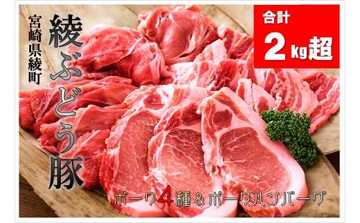 36-60_綾ぶどう豚食べ尽くしセット&ぶどう豚ハンバーグ