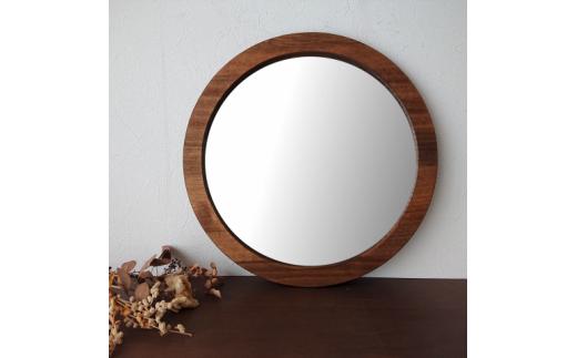 木枠丸型姿見 ウォールミラー(選べる2色カラバリ展開)