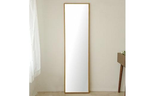 ホワイトオーク木枠全身姿見 デザインインテリアミラー