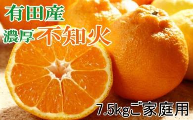 ■【濃厚】有田の不知火7.5kgご家庭用向け(サイズ混合)