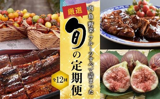 厳選!肉・魚・野菜・フルーツすべて詰まった旬の定期便(全12回お届け) H028-012