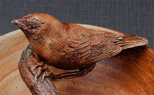 一夢庵風流窯 鳥の壁掛け 壁掛け 陶芸