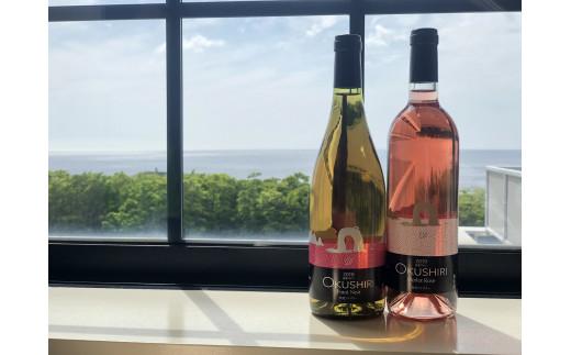 【限定】「奥尻ワイン」工場限定販売メルロー(ロゼ)1本・ピノノアール(白)1本セット