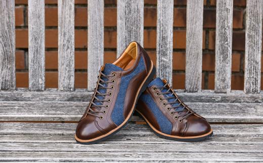 [№5990-0253]倭イズム 牛革×デニム紳士靴 YA3310 ダークブラウン