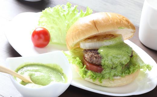 洋風ぬたカルパッチョソース使用例【ハンバーガー】