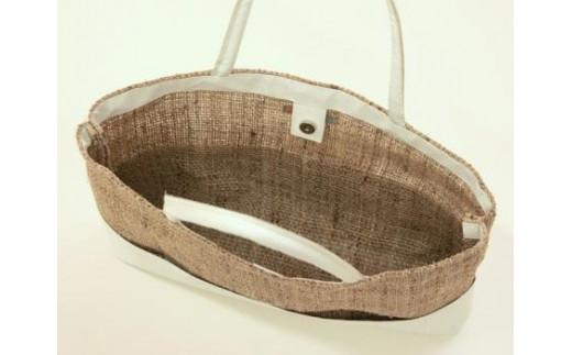 天然素材のざっくり麻トートバッグ