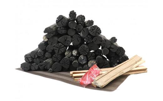 炭王国いわての逸品 北上市産 GETO白炭 高級木炭 5㎏ 着火剤セット