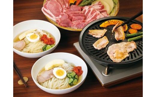 A-73 【佐助】焼肉・冷麺セット〔ロース・バラ・モモ、冷麺2食分〕