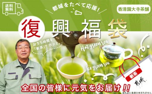 AA-4802_【逆境に負けるな!復興福袋】おうち時間リフレッシュ!都城産特上煎茶(新茶)4本セット