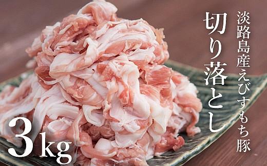 BYB7:えびすもち豚の切り落とし3kg(300g×10パック)冷凍