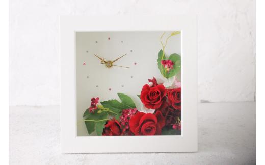 【プリザーブドフラワー】バラの花時計