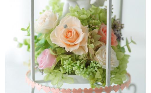 【空気をキレイにするお花】夢見る天使 プリザーブドフラワーアレンジ
