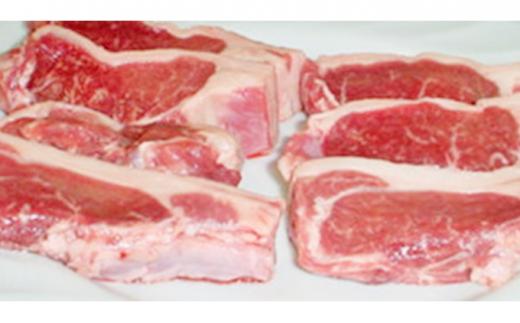 [№5894-0297]松山農場の羊のホゲット肉ステーキ用700g【北海道美深町】