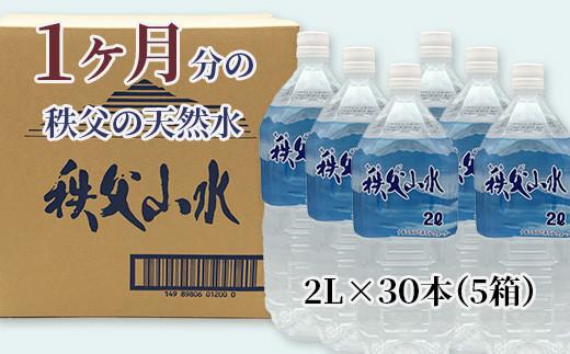 秩父の天然水 1ヶ月分(5箱)2L/30本(60L)1年保存可