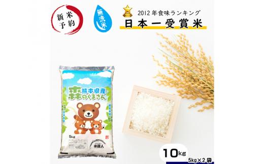 No.198 森のくまさん無洗米10kg【令和2年産予約】熊本県産 / さっぱり 粘り うま味 お米 とれたて 熊本県 特産品
