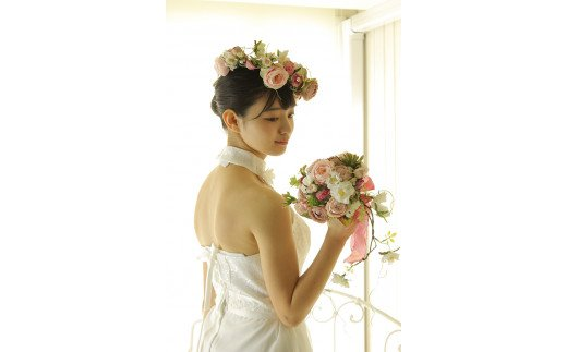 【空気をきれいにするアートフラワー】選べる ブーケ 花冠 ブートニア