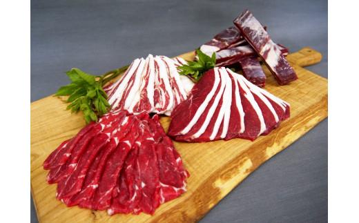 D-1205 北海道産エゾ鹿肉 食べ比べセット1,200g