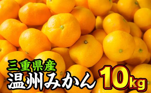II-12 三重県産 温州みかん(家庭用) 10kg《先行予約商品(10月〜12月出荷)》