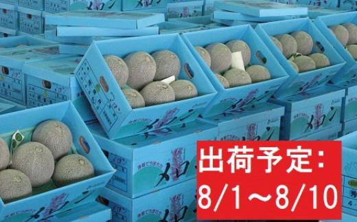【盆前発送】 津軽産 青肉メロンご家庭用約5㎏3~6玉[№5898-0241]