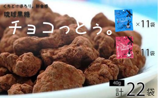 黒糖菓子の新食感「チョコっとぅ。」シリーズセット 40g×22袋