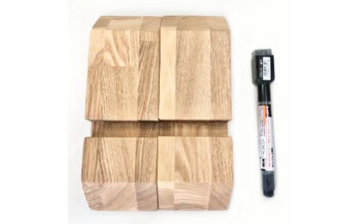 付属品 専用木製架台・イレーザー付きマーカー(黒)1本