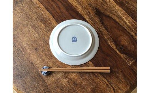 典型プレート 6寸皿 ブルーホワイト2枚セット