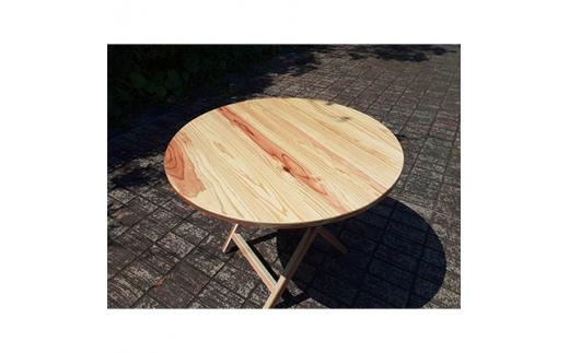 <eco>間伐材で作った折たたみテーブル【1112929】