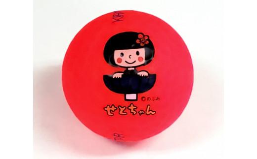 瀬戸市のご当地キャラ「せとちゃん」ロゴ入りゴルフボール(マットカラー レッド)
